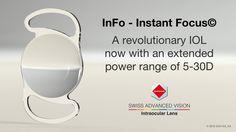 La revolucionaria lente intraocular InFo Instant Focus© ya está disponible con una gama de potencia ampliada