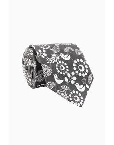 Black & Grey Silk Tie - Tie - Shop By Product - Fashion Accessories