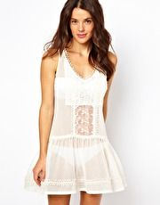 River Island Crochet Drop Waist Dress