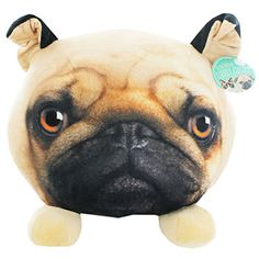 Pug Head Cushion | Toys & Games - New In! at The Works