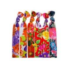 Floral Print Knotted Hair Ties