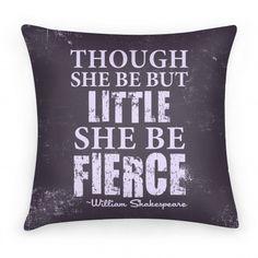 Little But Fierce Pillow | Pillows and Pillow Cases | HUMAN