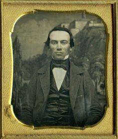 RARE Chapultepec Castle Backdrop Daguerreotype of A Man w Sinister Eyes | eBay
