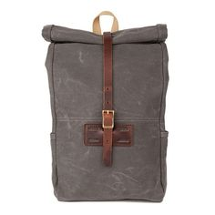 ROLL TOP RUCKSACK, GRAY WAXED - Archival Clothing | ON Y VA