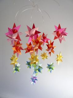 Ursa Major Multi origami mobile by The Starcraft (via etsy)  She's got quite a few paper mobiles that I just adore.