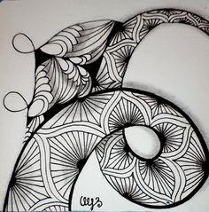 Tangle Doodle, Doodles Zentangles, Zen Doodle, Doodle Patterns, Zentangle Patterns, Awesome Designs, Pattern Drawing, Inktober, Tangled