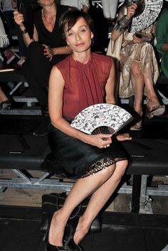 Kristin Scott Thomas Attendees come and go for the Lanvin Spring/Summer 2012 Ready-to-Wear show during Paris Fashion Week.