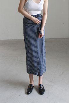 Stripe Wrap Trousers