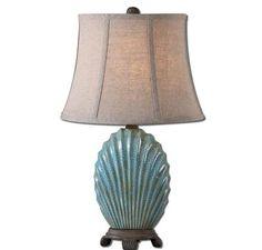 Uttermost Seashell Blue Table Lamp