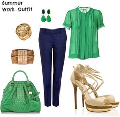 Summer Work Outfit, created by ygpalamaro on Polyvore