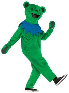 Be the envy of deadheads with this Grateful Dead Dancing Bear costume in green from SunshineDaydream.Our Jerry bear costume comes in 2 sizes for adults, and is officially licensed Grateful Dead merchandise.