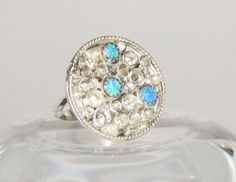 Sterling silver cocktail ring with blue lab by RadiantOriginals, $48.00