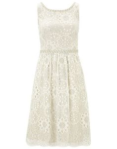 Evina Dress | White | Monsoon