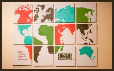 This is a cute idea! DIY Map with color code of places to go, places you've been, and people you know.
