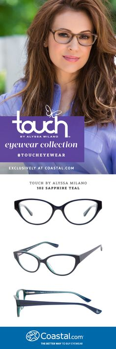 I wonder if I could pull off this cat-eye style. Touch by Alyssa Milano 102 Sapphire Teal, exclusively at @Coastal.com #TouchEyewear