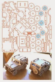 - Jeep Utilitário brinquedo corte a laser Laser Cutter Projects, Cnc Projects, Wooden Crafts, Diy And Crafts, Paper Crafts, 3d Cuts, 3d Puzzel, Auto Jeep, Jeep Cars