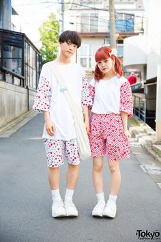 Cute Matching Couple Fashion in Harajuku