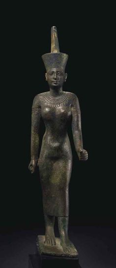 Bronze figure of the goddess Neith. Late Period. 25th-26th dynasty. 747-525 B.C.  | Christie's