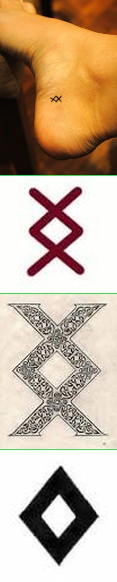 Real - Nordic Rune Inguz - The symbol has multiple interpretations, as it has for centuries. It means different things to different people. It is seen in several different forms. Here is some reading: http://www.domesticallyseasoned.com/2012/07/30/inguz-viking-rune-new-ink/ http://runesecrets.com/rune-meanings/inguz http://www.nordicrunes.info/ing.php http://www.runestones.com/RuneMeaning.htm http://runemeaning.com/inguz/ http://www.bewitchingways.com/runes/inguz.htm