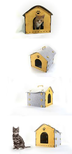 Unlike many plastic monocoque kennels, this cool cat crate is flat-pack and easy to take anywhere, even after you've put it together. Read more at Yanko Design Cat Crate, Felt Cat, Pet Furniture, Animal House, Pet Beds, Vinyl Designs, Cool Cats, Animals And Pets, Diy Design