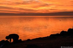 In preghiera, lago di Bracciano - Trevignano Romano