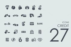 27 Credit icons by Palau on Creative Market