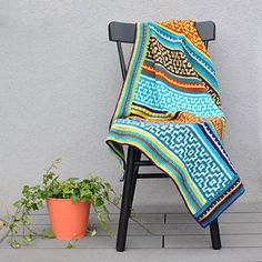 LillaBjörn's Crochet World: Nya Mosaic Blanket: FREE crochet pattern Crochet Afghans, Motifs Afghans, Crochet Motifs, Tapestry Crochet, Afghan Crochet Patterns, Crochet Stitches, Blanket Crochet, Baby Patterns, Crochet World