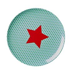 Hire melamine red star kids party plate. Perfect for Superhero parties!