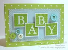 Cute baby card using a|s Classic Alpha set.
