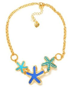 I have this Betsy Johnson Starfish Necklace.  Just love it.