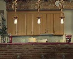 Retro Country Loft Style Edison Vintage Industrial Pendant Lights with Hemp Rope Lamp Luminaire Suspension Hanglamp Rope Pendant Light, Industrial Pendant Lights, Pendant Lamp, Pendant Lighting, Crystal Pendant, Ceiling Chandelier, Ceiling Lights, Ceiling Pendant, Led