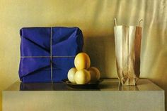 Canvas (Blue Package with Ostrich Eggs)  Claudio Bravo, Chilean Artist