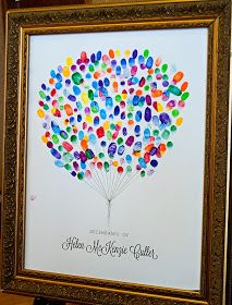Custom Fingerprint Art -- Awesome for Family Reunions, Funerals, Weddings or any other large family gathering! Custom Fingerprint Art -- Awesome for Family Reunions, Funerals, Weddings or any other large family gathering! Mothers Day Crafts For Kids, Fathers Day Crafts, Funeral Gifts, Funeral Ideas, Fingerprint Art, Teacher Gifts, Teacher Cards, Art For Kids, Balloons