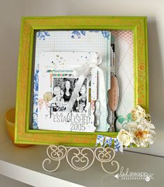 Frame decorated with Citron Colorshine« Heidi Swapp #heidiswapp #colorshine