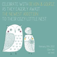 baby shower - this is a cute Owl idea