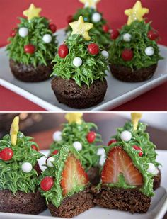 http://www.ericasweettooth.com/2010/12/strawberry-christmas-tree-brownie-bites.html