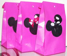 Minnie Mouse Party Favor Bags Plus Ears and Bow by BrendasPINATAS, $14.99