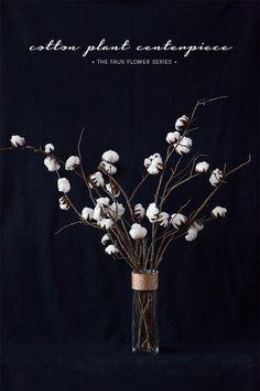 C R A F T O L O G I C A L: The Faux Flower Series: The Cotton Plant Centerpiece