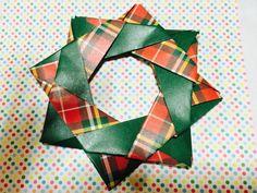 Origami Christmas wreath  折り紙「クリスマスリース」3 ***