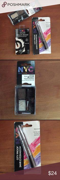 3 items! eyeshadow, eye powder kit, brow kit! See individual listings for detailed description of each item.  Thanks! New York Color Makeup