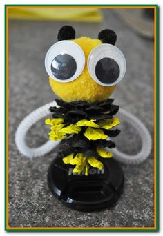 Create a buzz with our pinecone bee and all our other great pinecone crafts for kids. www.easy-crafts-for-kids.com/pinecone-crafts-for-kids.html