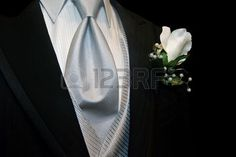Groomsman request black tuxedo with silver tie and white boutonniere card. Personalize any greeting card for no additional cost! Wedding Tux, Wedding Attire, Wedding Ideas, Wedding Bouquets, Wedding Flowers, Wedding Planning, Groomsmen Attire Black, Quinceanera Court, White Rose Boutonniere
