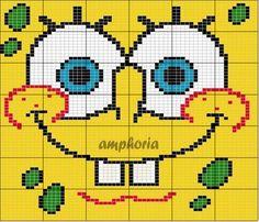Patrick SpongeBob hama perler beads pattern ENCANTOS EM PONTO CRUZ