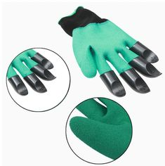 Finally, there's ABS Plastic Garden Rubber Gloves With built-in claws for digging, planting and raking, these garden gloves are a one-step solution to your gardening tasks. Rubber Gloves, Gardening Gloves, Claws, Planting, Products, Plants, Gadget