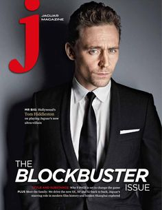 #TomHiddleston is featured in the Autumn/Winter 2015 issue of J Magazine for Jaguar...