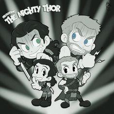 Thor & Loki by Bab00n