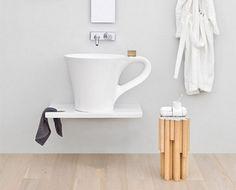 Umyvadlo na desku CUP |70 x 50 cm h 42,5 cm | bílé