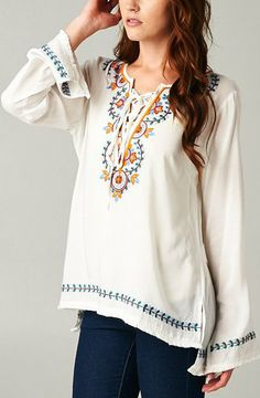 Embroidered Lori Tunic