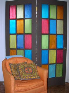 Stained Glass Sideboard