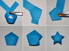 Звездочки из бумаги оригами - мастер-класс